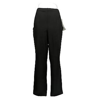 Femmes avec contrôle Shapewear City Slim-Leg Pantalon W / Poches Noir A366049