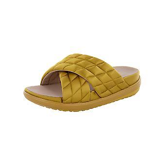 Fitflop Kvinders Loosh Luxe Cross Quiltet Satin Slide Sandaler
