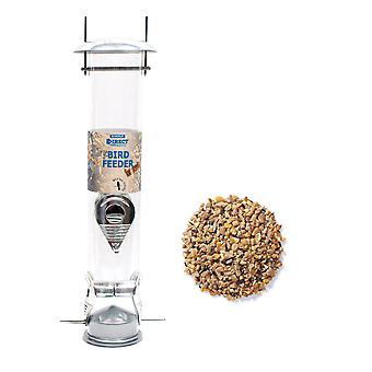 1 x Simply Direct Large Deluxe Wild Bird Seed Feeder with 1.8KG bag of Mixed Seed Feed
