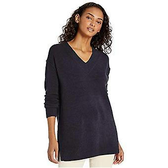 Marca - Daily Ritual Women's Mid-Gauge Stretch V-Neck Pullover Sweater