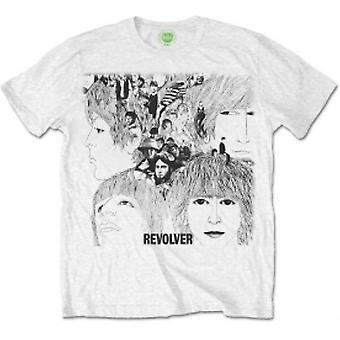 The Beatles Mens Revolver Album Cover White T-Shirt Medium