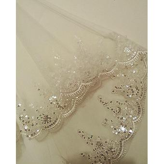 New Princess Wedding Veils, Elegant 2 Layers Bridal Veils