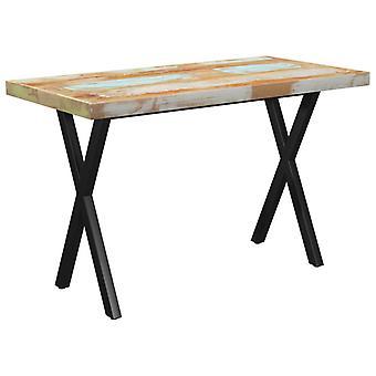 vidaXL طاولة الطعام X-الإطار 120x60x77 الخشب المستصلحة