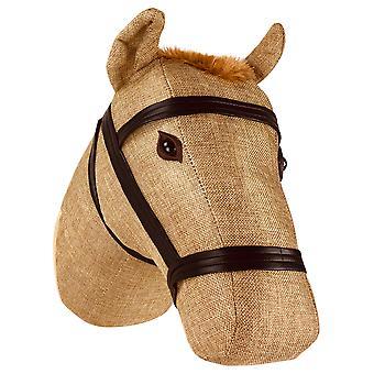 Fabric Wall Mounted Horse Head   30cm