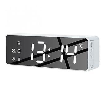 Wireless Bluetooth Speaker Fm Radio Sound Box Desktop Alarm Clock Subwoofer Music Player Tf Card