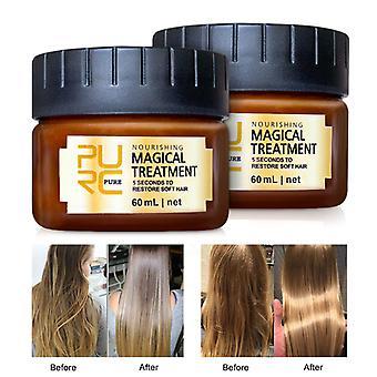 120/60ml Máscara de tratamento mágico 5 segundos Reparos danos restauram cabelos macios para todos os tipos de cabelo queratina Cabelo & Tratamento do couro cabeludo