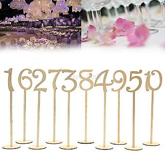 10Pcs/pack hot style wooden wedding supplies table number figure card digital seat decoration wedding place holder