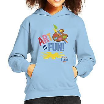 Blippi Art Is Fun Kid's Hooded Sweatshirt