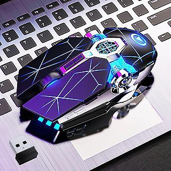 لاسلكي البصرية 2.4g USB الألعاب الماوس 1600dpi 7 اللون أدى الفئران الصامتة القابلة لإعادة الشحن الخلفية للكمبيوتر المحمول