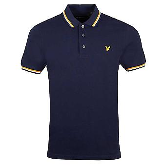 Lyle & Scott Double Tipped Polo Shirt - Navy