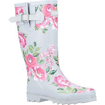 Cotswold Womens Blossom Slip On Matte Wellington Boots