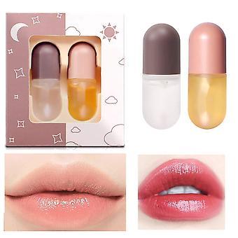 Traje plumper de labios de día y noche Volumising instantáneo brillo color labio aceite labial de larga duración reducir el brillo labial