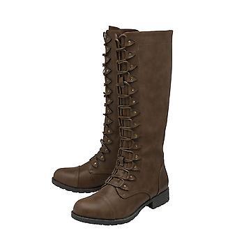 Lotus Tallulah Knee High Boots in Brown