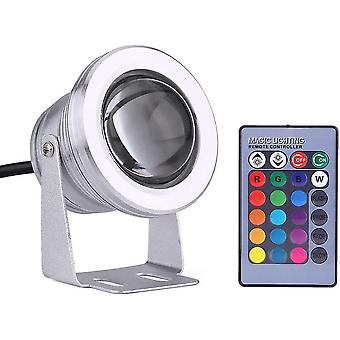 Hywell Pool Source Led Lamp Remote Control Underwater Light Color Change Aquarium Pool Lights (silver Shell Rgb)