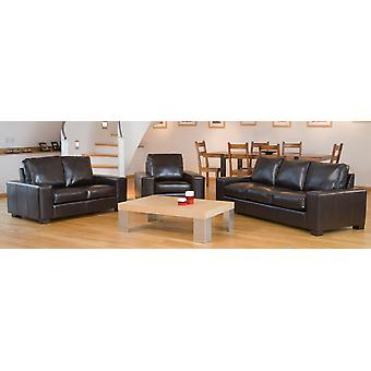 Lila May Leather 3 Seater Tub Sofa In Choice Of Colours