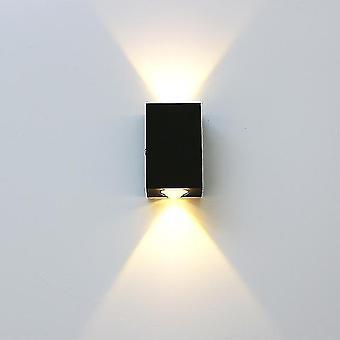 Led light bulbs geborsteld zwart zilver dubbele kop wandlamp led up down wandlampen opzij gang woonkamer nachtkastje