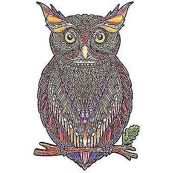Jigsaw puzzles red owl puzzle piece game for kids and adults a4