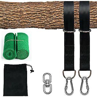 Swing sets playsets a swing hammock tree hanging kit strap hooks carabiner garden swing fittings 300kg