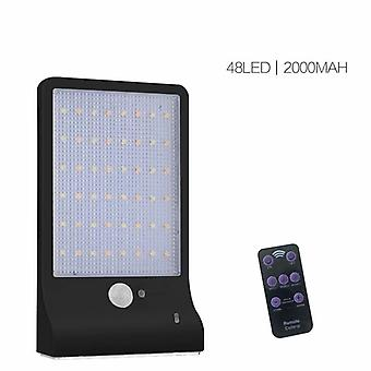 Outdoor Solar Licht Wasserdicht Dimmbar Menschlicher Körper Induktionslampe Straßenlaterne, 48led, 2000mah, ohne Geländer