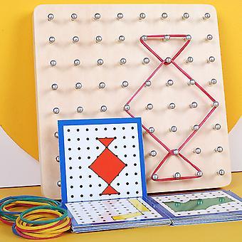 Fa Geoboard Montessori Játék Tömb Tömb tábla diagram Grafikus Matematika Oktatási