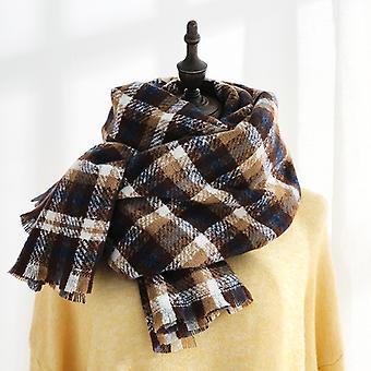 Femme Warm Scarf Châles Large Infinity Foulards Stripe Plaid Foulard