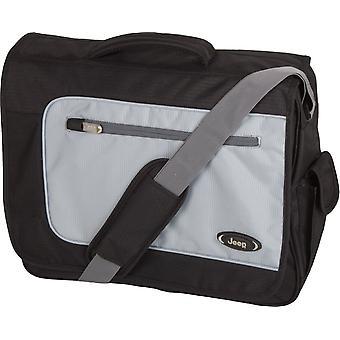 Jeep Bristol Laptop Messenger Bag, Black/Grey