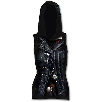 Syndicate evie - allover licensed women's sleeveless gothic hood