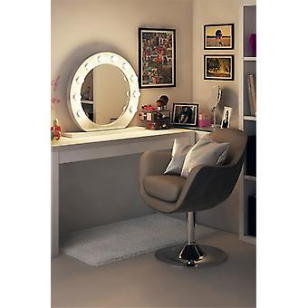 Diamond X Gloss White Hollywood Makeup Mirror with Dimmable LED k248CW
