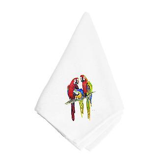 Carolines trésors 8601NAP Tres perroquet serviette
