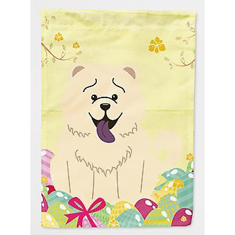 Easter Eggs Chow Chow White Flag Canvas House Size