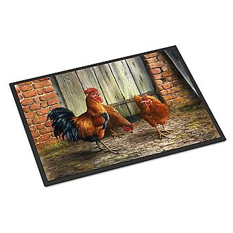 酉とダフネ バクスター屋内または屋外マット 24 x 36 による鶏