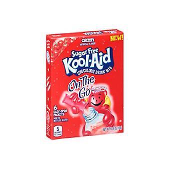 Kool-Aid op de Ga suiker gratis kers Drink Mix Singles 2 vak Pack