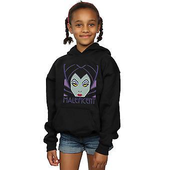 Disney Girls Maleficent Cropped Head Hoodie