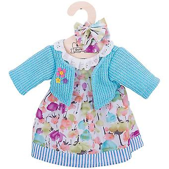 Bigjigs Toys Turquoise Rag Doll Cardigan & Dress (38cm) Clothing Outfit