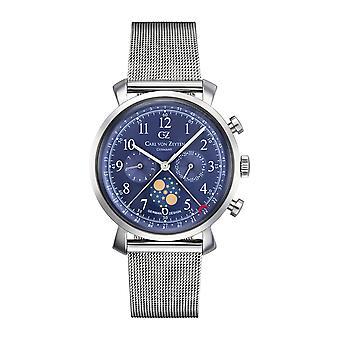 Carl of Zeyten men's watch wristwatch quartz Urach CVZ0015BLMB