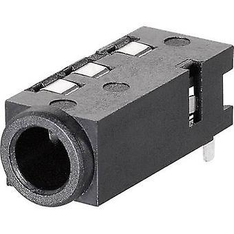 BKL elektronisk 1109300 3,5 mm audio jack Socket, horisontal mount antall pinner: 4 Stereo 1 eller flere PCer