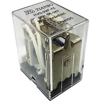 Tianbo Electronics HJQ-22F-4Z -24VDC Plug-in relay 24 V DC 5 A 4 change-overs 1 pc(s)