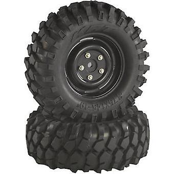 Absima 01:10 Crawler Räder Offroad-V-Block-Crawler schwarz 2 PC