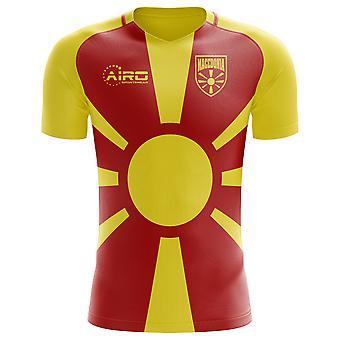 2018-2019 Makedonien hjem koncept fodbold skjorte-voksen langærmet