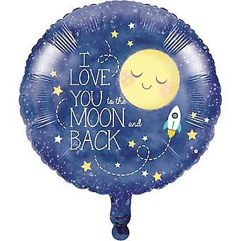 Amor de luna consiguió el amor bebé ducha papel globo Ø45 cm 1 pieza los niños fiesta de cumpleaños temática