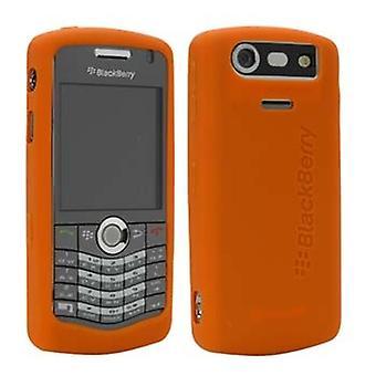 OEM BlackBerry 8120, 8130, 8110 אור כתום גומי מקרה עור
