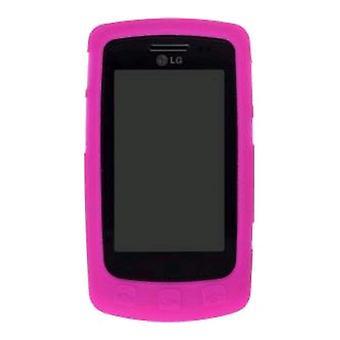 Draadloze oplossingen siliconen Gel Case voor LG UX700 Bliss - watermeloen