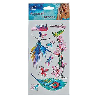 Aquarelle de la beauté des tatouages