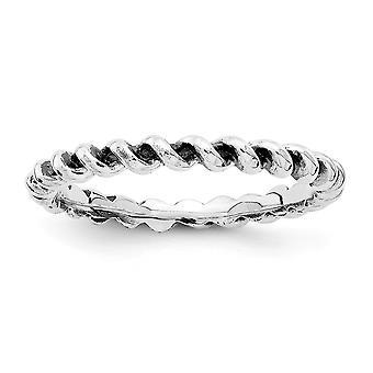 2,5 mm 925 Sterling Silber stapelbare Ausdrücke Ring Schmuck Geschenke für Frauen - Ring Größe: 5 bis 10
