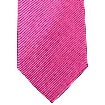 Knightsbridge Neckwear ren Diagonal ribbet uavgjort - rosa