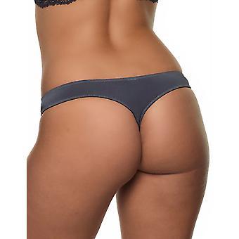 After Eden 10.35.6034-092 Women's Lyonne Dark Grey Lace Panty Thong