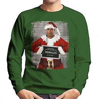 Kerst Mugshot Ronaldo mannen Sweatshirt