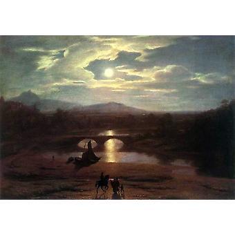 Moonlit Landscape,Washington Allston,60x40cm