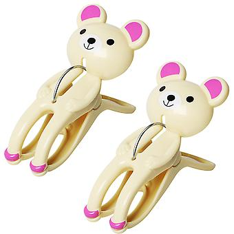 2PC BEAR TOWEL PEGS