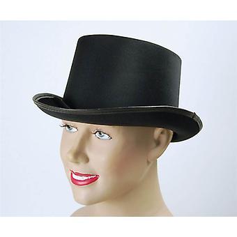 قبعة. نظرة سوداء، والساتان.